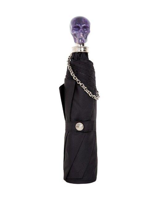 Alexander McQueen Skull-handle collapsible umbrella