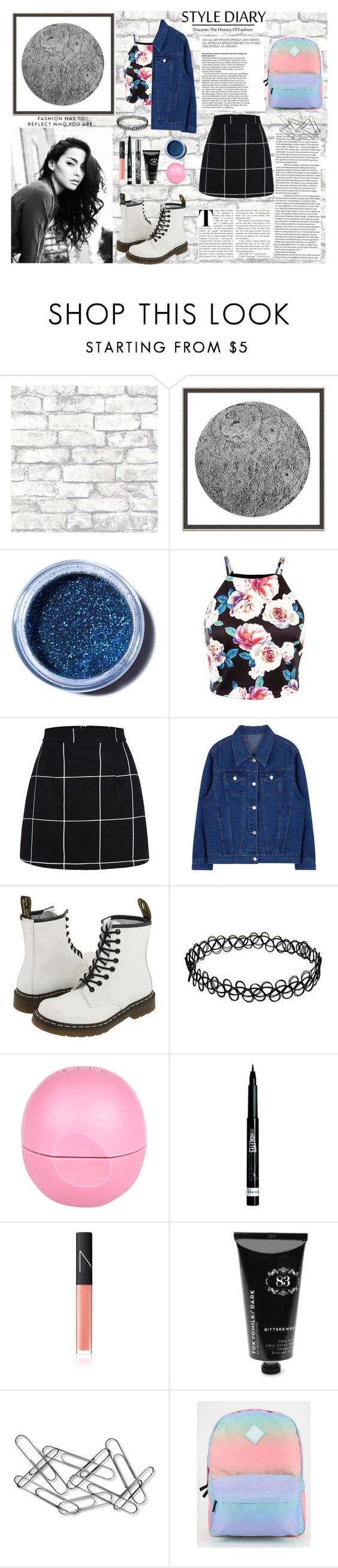 """Style Diary"" by mada2799 on Polyvore featuring Brewster Home Fashions, Wendover Art Group, Lime Crime, Dr. Martens, River Island, Rimmel, NARS Cosmetics, TokyoMilk, Home Decorators Collection and Vans"