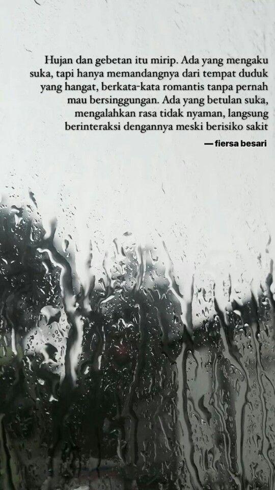 Fiersa Besari Dengan Gambar Hujan Motivasi Kutipan Buku