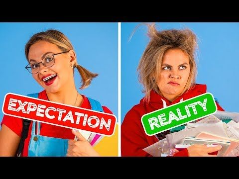 Back To School Expectation Vs Reality Funny Situations By 123