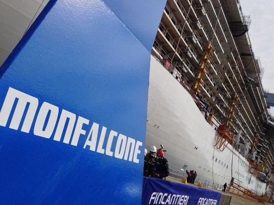 Seen when visiting @Princess Cruises #RoyalPrincess under constructioin