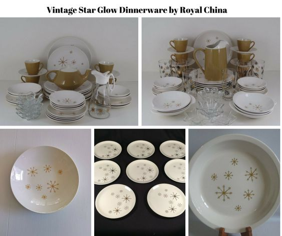 Vintage Star Glow Dinnerware by Royal China