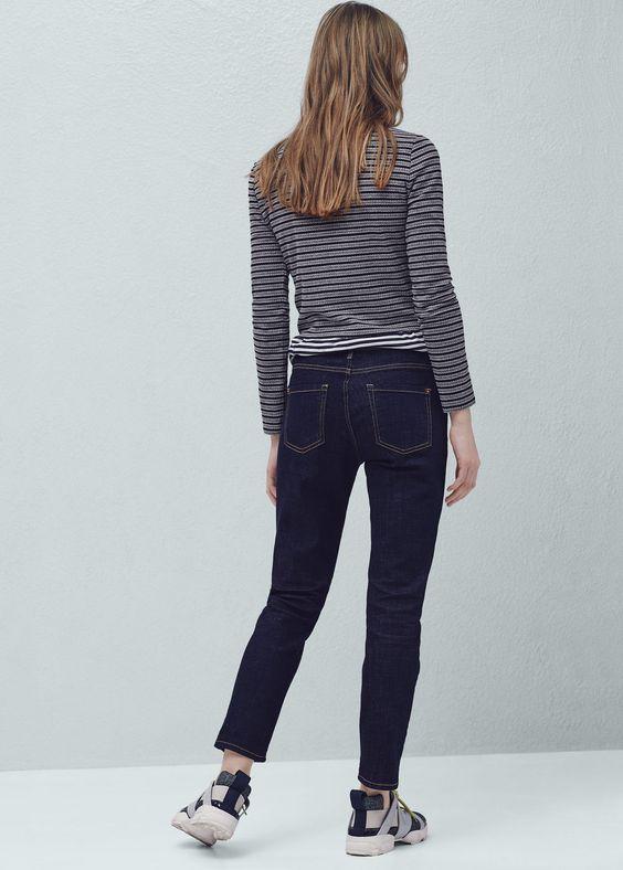 Relaxed 7/8-jeans nancy   MANGO