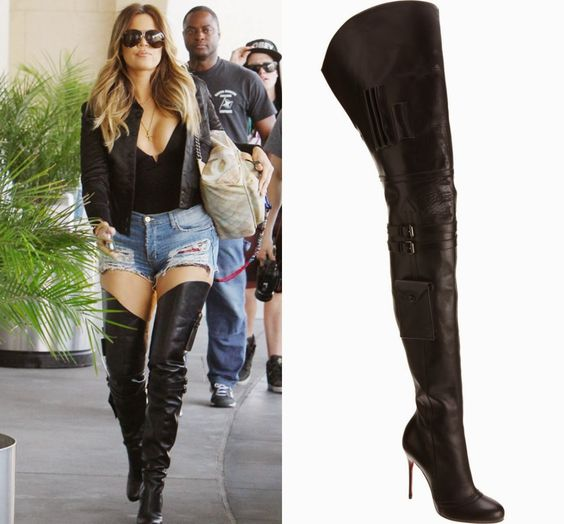woman in black leather thigh high boots | Gommap Blog
