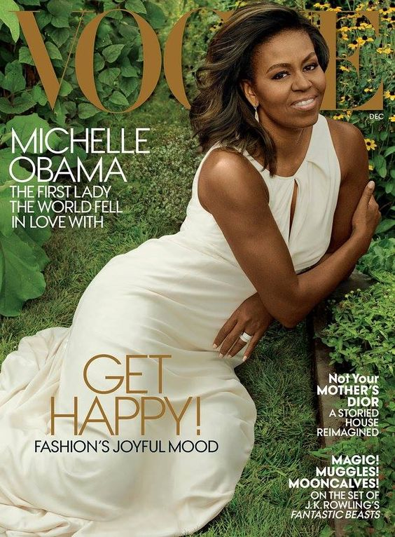 Michelle Obama @ Vogue US, December 2016.: