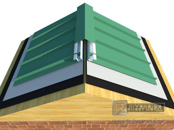 Standing Seam Z Bar Ridge Vent Metal Roof Standing Seam Metal Roof Roofing
