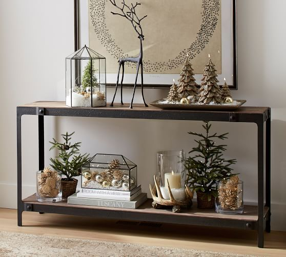 Clint Reclaimed Wood Console Table Christmas Home Christmas Table Rustic Christmas