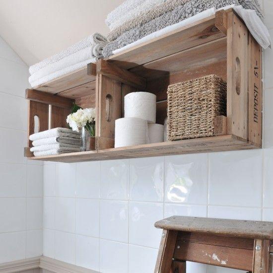 Upcycled bathroom storage | Bathroom storage ideas | Decorating | housetohome.co.uk