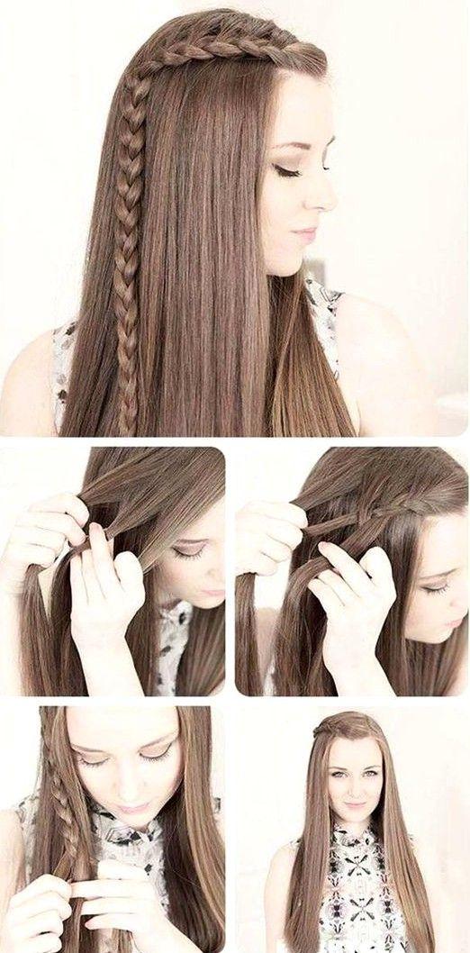 10 Sencillos Peinados Para Cuidar Tu Melena Larga Durante Clima Con Mucho Frio Y Aire Peinados Con Cabello Liso Peinados Con Trenzas Peinados Poco Cabello