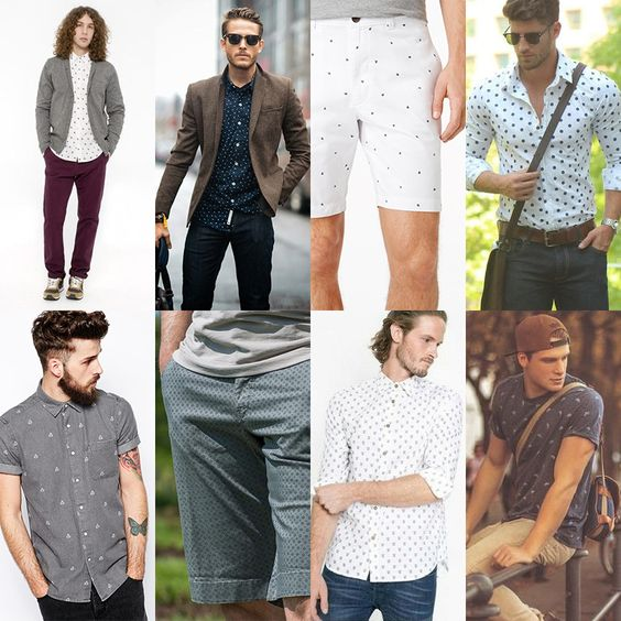 men's micro print fashion