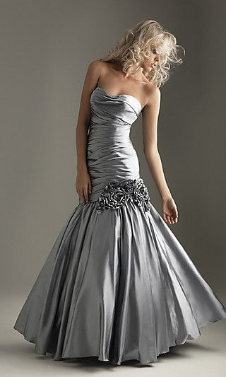 mermaid dress: Silver Dress, Wedding Dress, Prom Dress