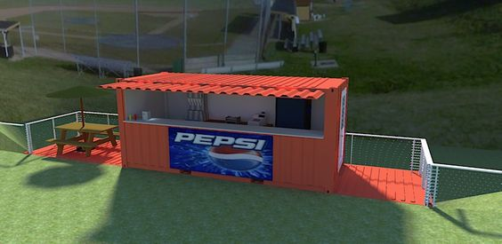 Steel buildings concession stands and shipping container homes on pinterest - Intermodal container homes ...