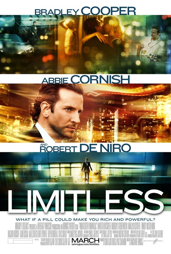 Limitless (18/100)  Another film a cool premise. The story was there and they managed to explore it in great ways. Bradley Cooper was a great lead in this film. I just enjoyed that they pretty much showed how 'Limitless' a person can be, the editing was also done smoothly though some parts of the film became dizzy.  Overall, I give this film an 8/10 rating.
