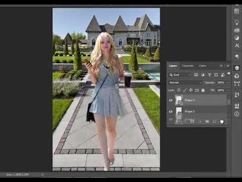 دمج الصور باستخدام المنظور ونقطة التلاشي وتطابق الالوان في فوتوشوب Dresses Photoshop Sleeveless Dress