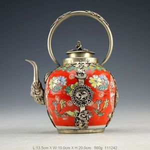 Oriental vintage dragon/monkey teapot