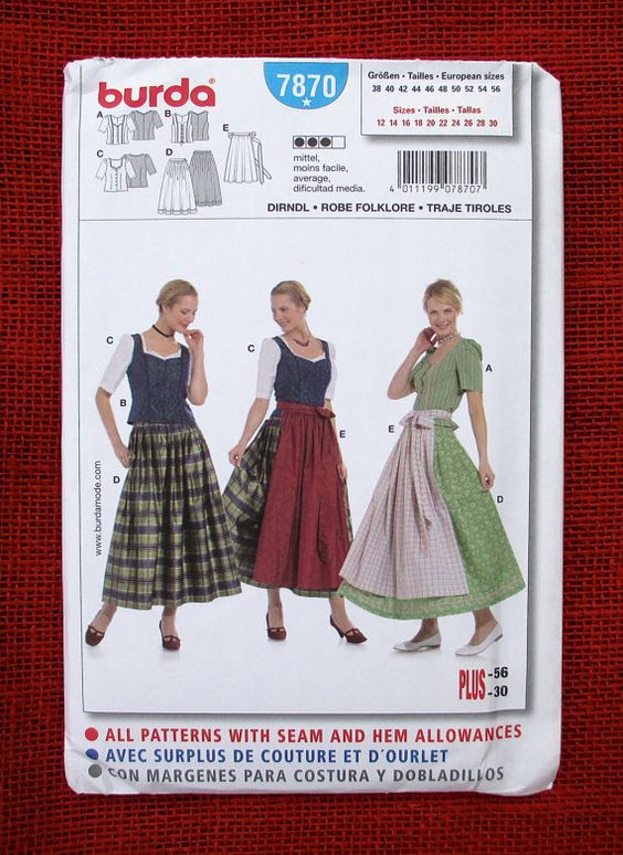 Burda Sewing Pattern 2484 Bridal Gown by AlicesSewingCorner ...