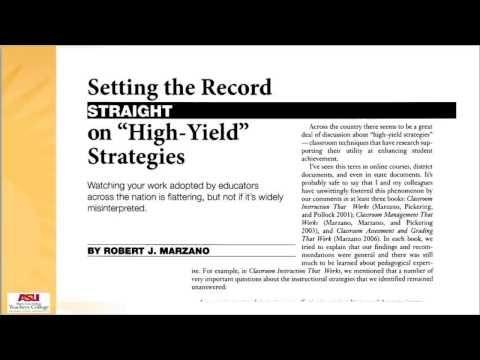 robert marzano instructional strategies