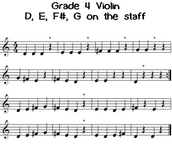 Grade 4 violín