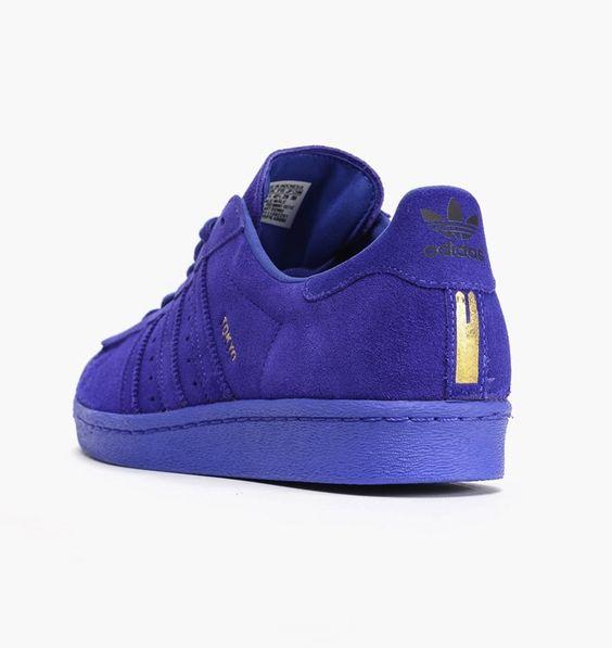 Adidas Superstar 80s City Series Pack - Tokyo City Shoes For Women Blue Lightning Night B32663