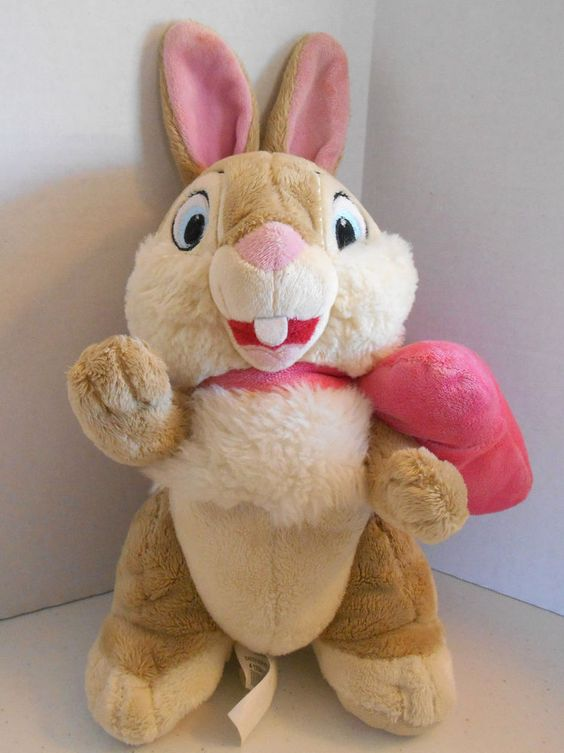 "Easter Bow Miss Bunny Thumpers Girlfiend Bambi 11"" Stuffed Plush Toy Animal #Disney"