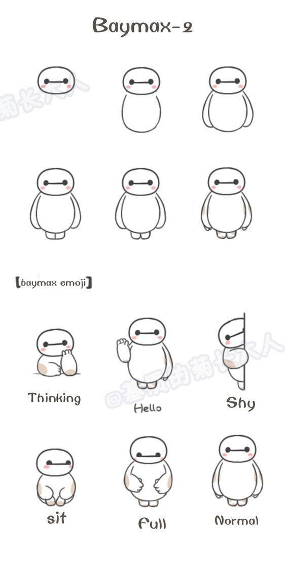 Baymax-2 Little Baymax emoji from @基质的菊长大人
