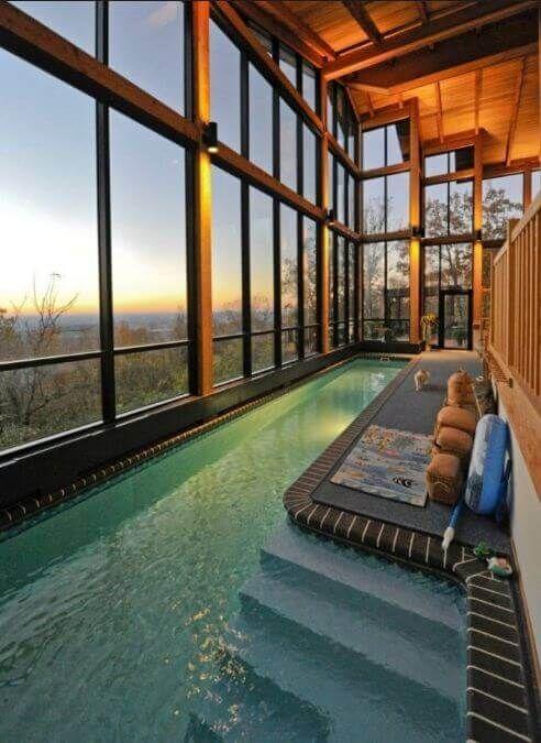 41 Best Inspiration Window Indoor Swimming Pool Design Ideas With Pictures Casas Luxuosas Piscinas Interiores Arquitetura Casas