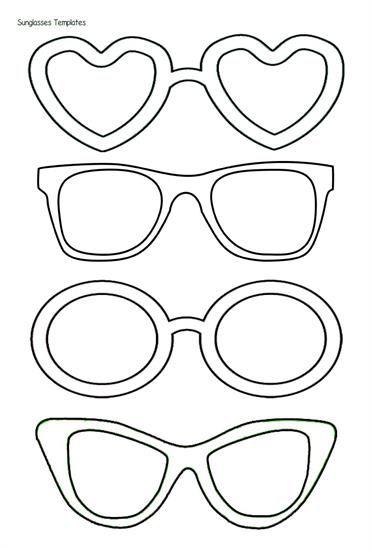Sunglasses Templates Have Staff Draw What They Did In The Lenses And