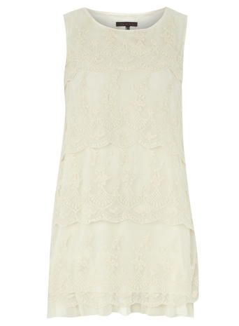 Tenki  Cream Lace Dress