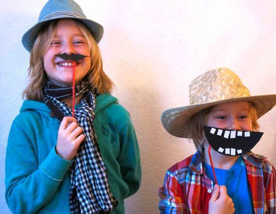 Schnelle Masken, gebastelt für die Kinderseite des Tagesspiegels. Bastelanleitung bei belkabelka.com