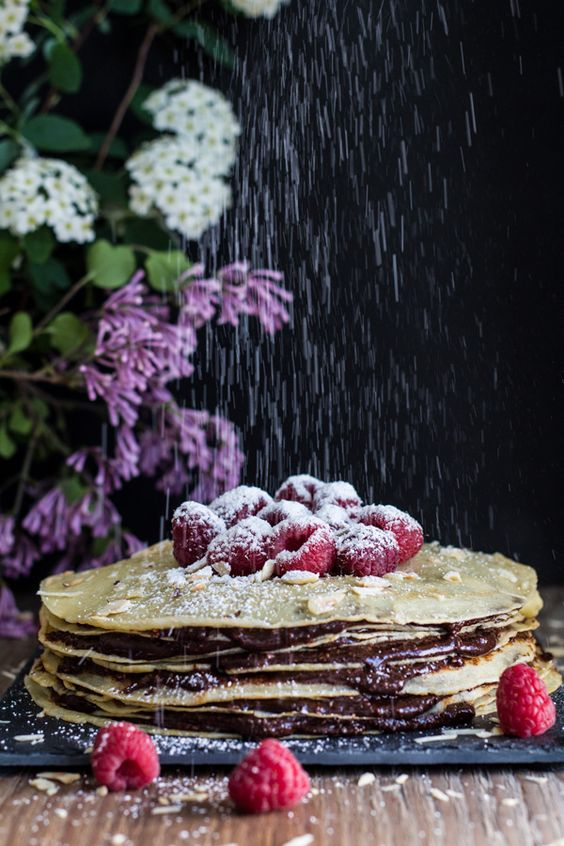 Homemade Nutella Crepe Cake - Green Healthy Cooking