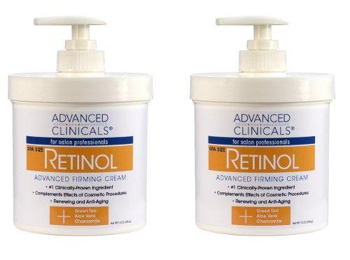 Advanced Clinicals Retinol Cream Ivory Spa Size For Salon Professionals Moisturizing Formula Penetrates Skin To Erase T Retinol Cream Firming Cream Retinol