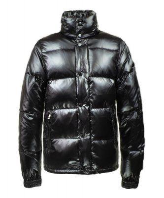 Cheap Moncler Ever Mens Down Jacket Button Buckle Black Outlet