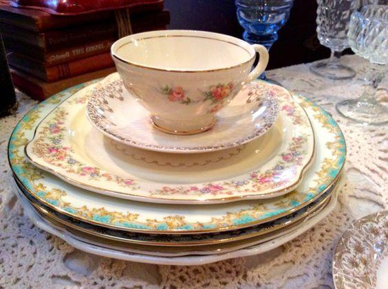 Stack of vintage plates - Southern Vintage Table