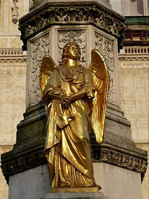 Golden Angel A Detail From Zagreb S Chatedral Zagreb Croatia Zagreb Croatia