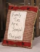 Primitive Tapestries - Textiles - Family Throw Pillow by Quaker Crafts