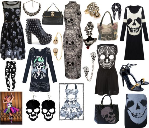 """Skulls"" by carolwatergirl on Polyvore"