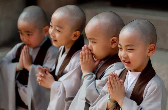 cute little monks