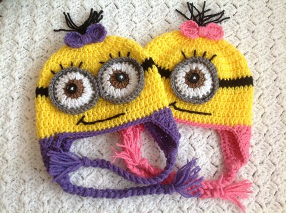 @Carol Van De Maele Van De Maele Van De Maele Satterfield  PURPLE Crochet Minion Hat for girls by Chinguliscreations on Etsy