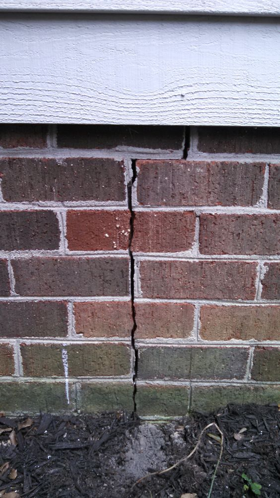 I Have A Crack In The Brick Veneer Of The Exterior Foundation Wall Of My Answer The Proposed