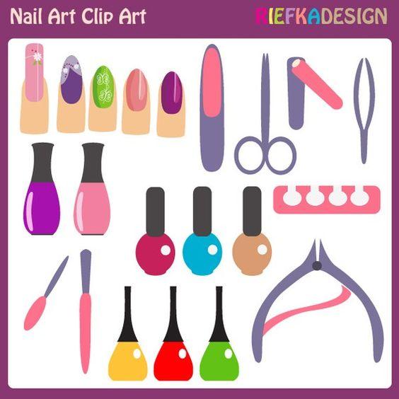 Nail Art Clip Art via Etsy