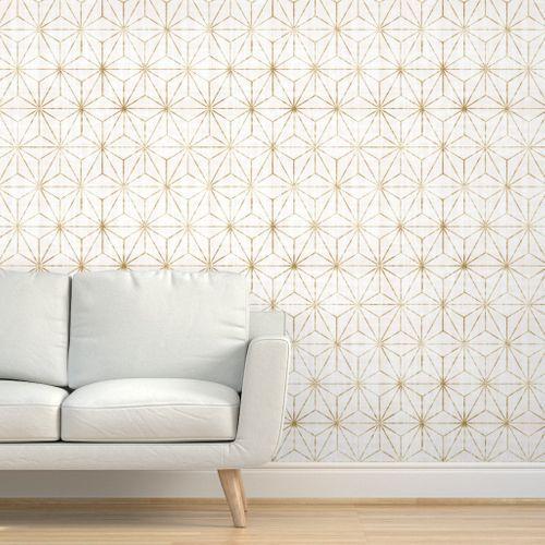 Star Geo White Gold White And Gold Wallpaper Gold Wallpaper Wallpaper