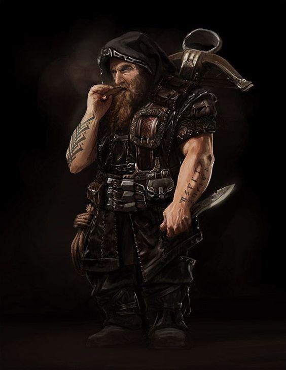 Dwarf, Zwerg, Warrior, Krieger, Larp, Armor, Rüstung, Rogue, Schurke, Dieb, Thief, Crossbow, Knife, Armbrust, Messer, Cigar, Zigarre