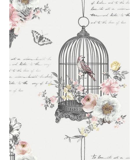 Diamond Birdcage Wallpaper Neutral Arthouse 259700 Birdcage Wallpaper Neutral Wallpaper Pattern Wallpaper
