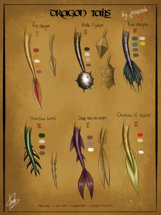 Character Design Challenge Facebook : Dragon tail and character design references on