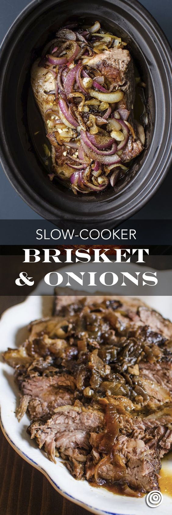 Slow Cooker Brisket and Onions Recipe. This EASY and SIMPLE comforting ...