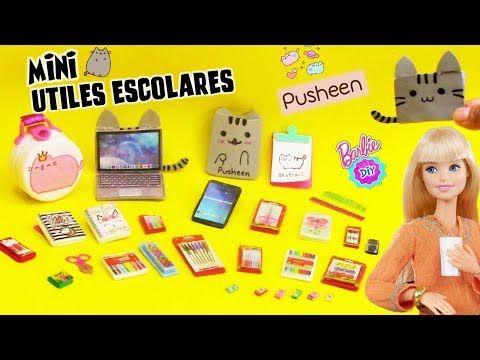 Hago Muchos útiles Escolares En Miniatura Para Muñecas Barbie Pusheen Manualidades Para Muñecas Manualidades Para Barbie Actividades De Manualidades Para Niños