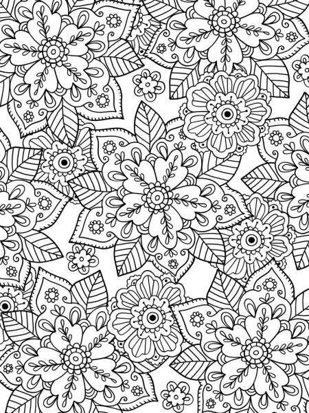 24 Dibujos para colorear dificiles mandalas