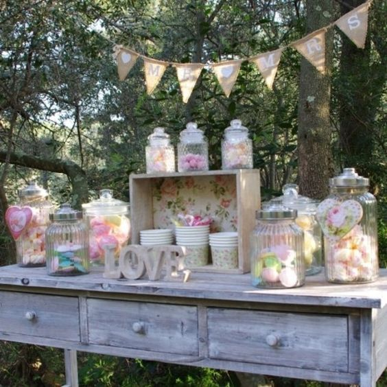 Pack candy bar vintage pour mariage, anniversaire fille