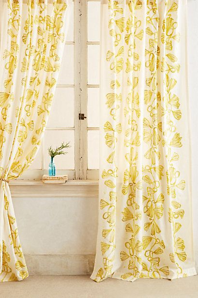 Curtains Ideas bright patterned curtains : bright yellow garden patterned curtains http://rstyle.me/~1n8ti ...