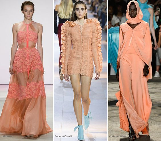 Spring/ Summer 2016 Color Trends: Peach Echo  #colors #trends #SS2016: